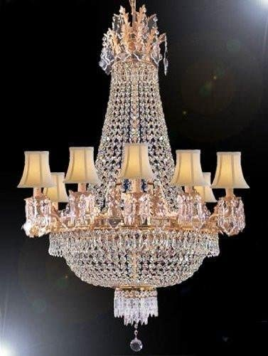 EMPIRE CRYSTAL CHANDELIER LIGHTING WITH SHADES