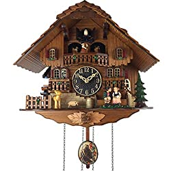 PEI XIA Cuckoo Wall Clock Little Bird Cuckoo Report Time Vintage German Black Forest Cottage