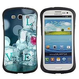 Suave TPU GEL Carcasa Funda Silicona Blando Estuche Caso de protección (para) Samsung Galaxy S3 I9300 / CECELL Phone case / / Quote Ice Bling Heart Blur Diamonds /