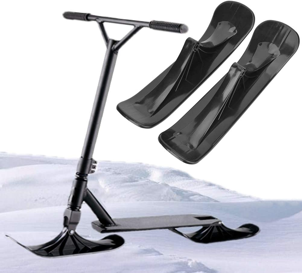1 par de patinetas Trineo Snow Trineo Ski Board Trineo Accesorios Snow Scooter para Bicicletas de Equilibrio Deportes en la Nieve