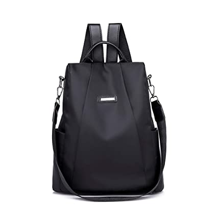 Feitengtd Hot Sale 2019 Women Travel Casual Backpack Travel Bag Anti-theft Oxford Cloth Backpacks (Black)