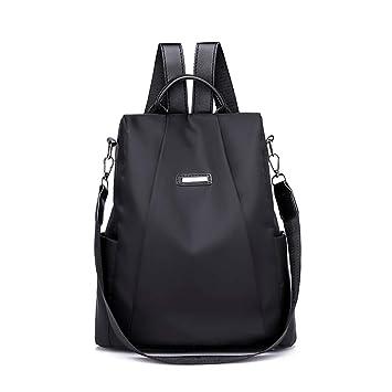 👜 Bolsos, Mochila de Viaje para Mujer Bolsa Antirrobo Mochila de Tela Oxford Bags (Black): Amazon.es: Equipaje