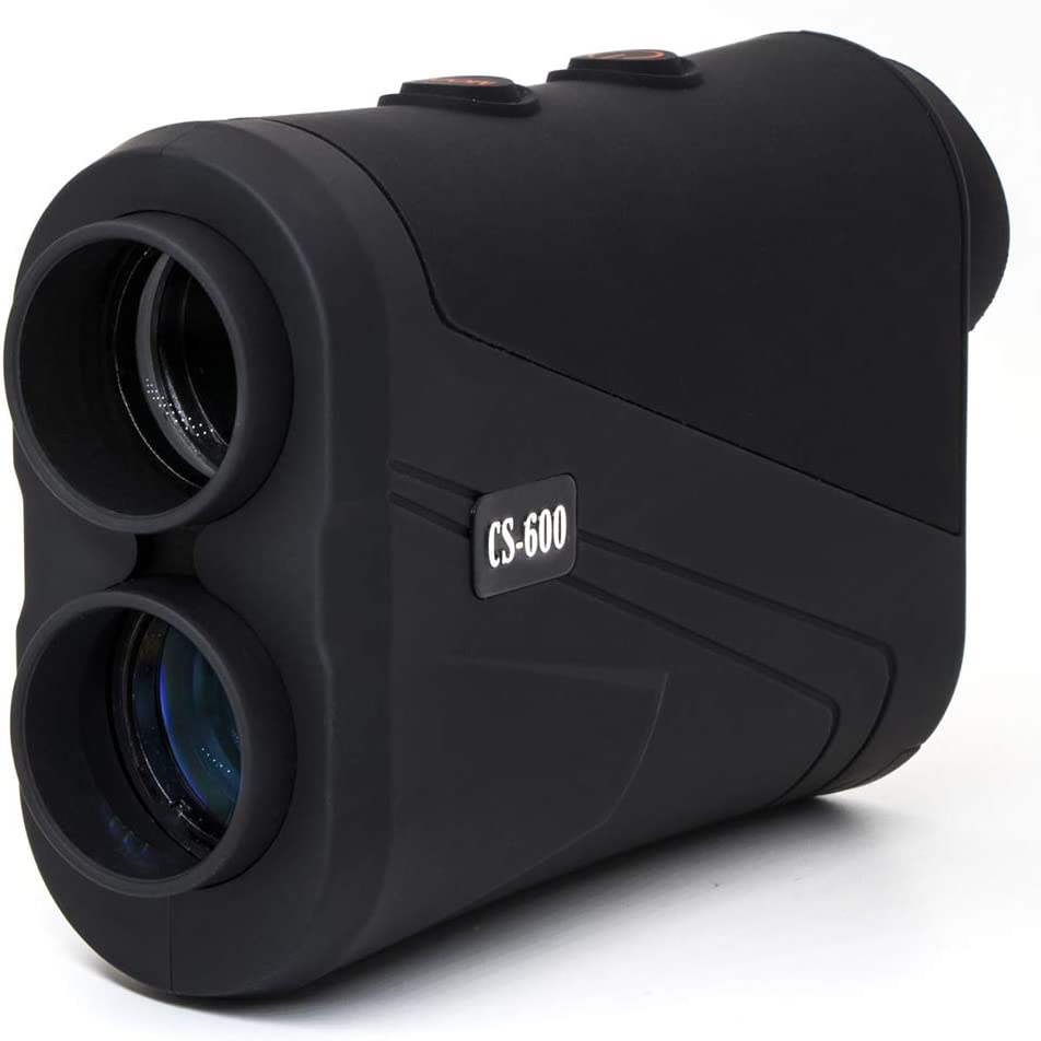 MOESAPU Golf Rangefinder 650 Yard with Flag-Lock Pinsensor, Continuous Scan 7X Magnification Laser Binoculars Range Finder for Hunting, Free Battery