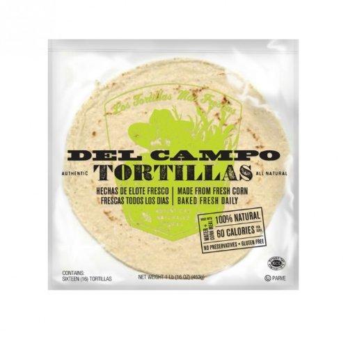 Del Campo Tortillas Soft Corn Tortillas, 6 inch round, 8 lbs per case. by Del Campo Tortillas