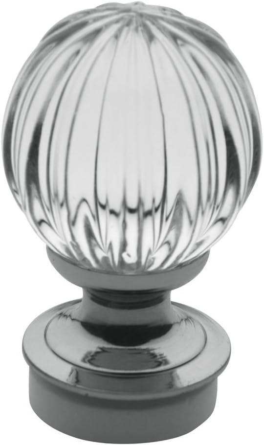 Baldwin 4302260 Crystal Cabinet Knob in Bright Chrome