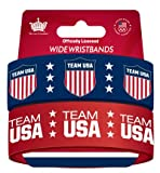 Olympics USA 2-Pack Wide Wristbands - Red/Navy Blue