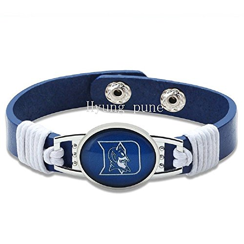 (Duke Blue Devils Adjustable Leather Bracelet Wristband Jewelry - Shipped from U.S.A.)