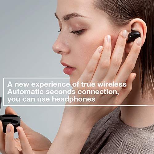 Xiaomi Mi True Wireless Earbuds Basic, TWS Wireless Bluetooth 5.0 Headphones Charging Box True Stereo Sound Wireless Bluetooth Headphones with Microphone Hands-Free Headphones AI Control nero