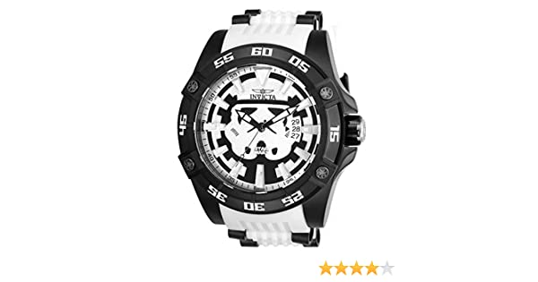 Amazon.com: Invicta Marvel 26516 Star Wars White Silicone Strap Stainless Steel Limited Edition Mens Watch: Watches