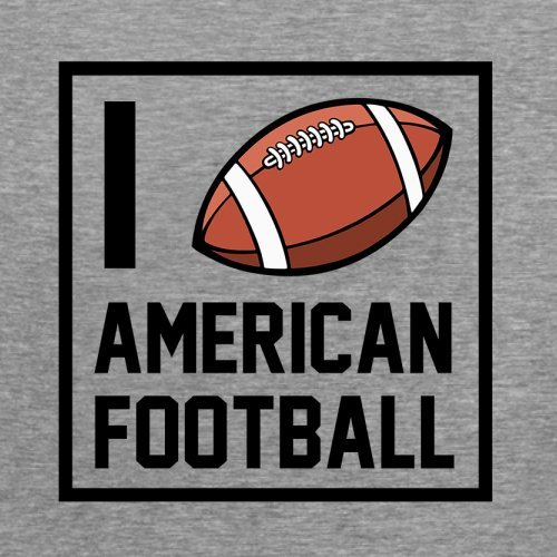 I Heart American Football - Femme T-Shirt - Gris - S