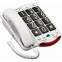 Ameriphone JV35 Phone with 37-dB Amplification, Braille Characters and Talk Back (White)