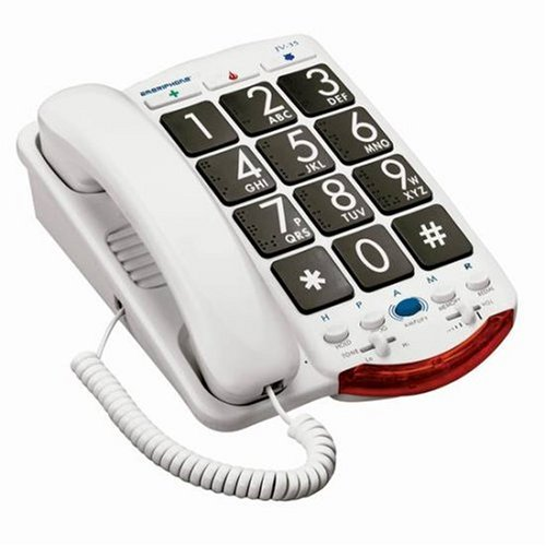 Ameriphone JV35 Phone with 37-dB Amplification, Braille Characters and Talk Back (Ameriphone Corded Telephone)