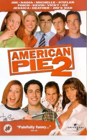 American Pie 2 Vhs 2001 Biggs Jason Elizabeth Shannon Hannigan Alyson Klein Chris Lyonne Natasha Nicholas Thomas Ian Reid Tara Scott Sean William Rogers James B Biggs Jason Elizabeth Shannon Amazon Co Uk Video