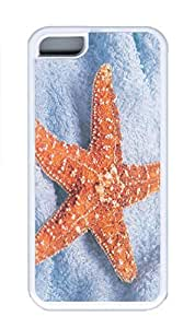 iPhone 5C Case, Personalized Custom Rubber TPU White Case for iphone 5C - Starfish Yellow Cover