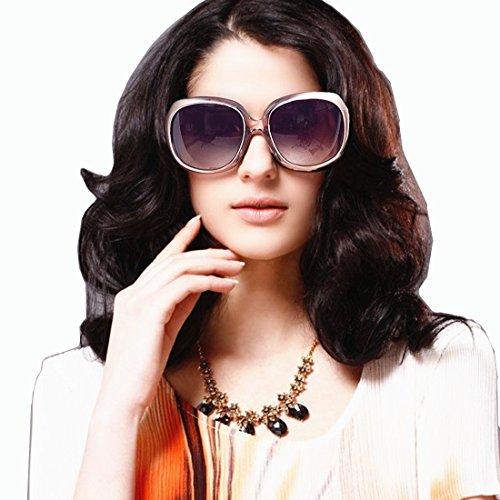 VIVIENFANG Elegant Classic Oversize Polarized Sunglasses for Women Fashion Driving Shades P1981I Nectar - Nectar Shades