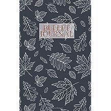 Bullet Journal: Navy blue white leaves pattern bullet journal