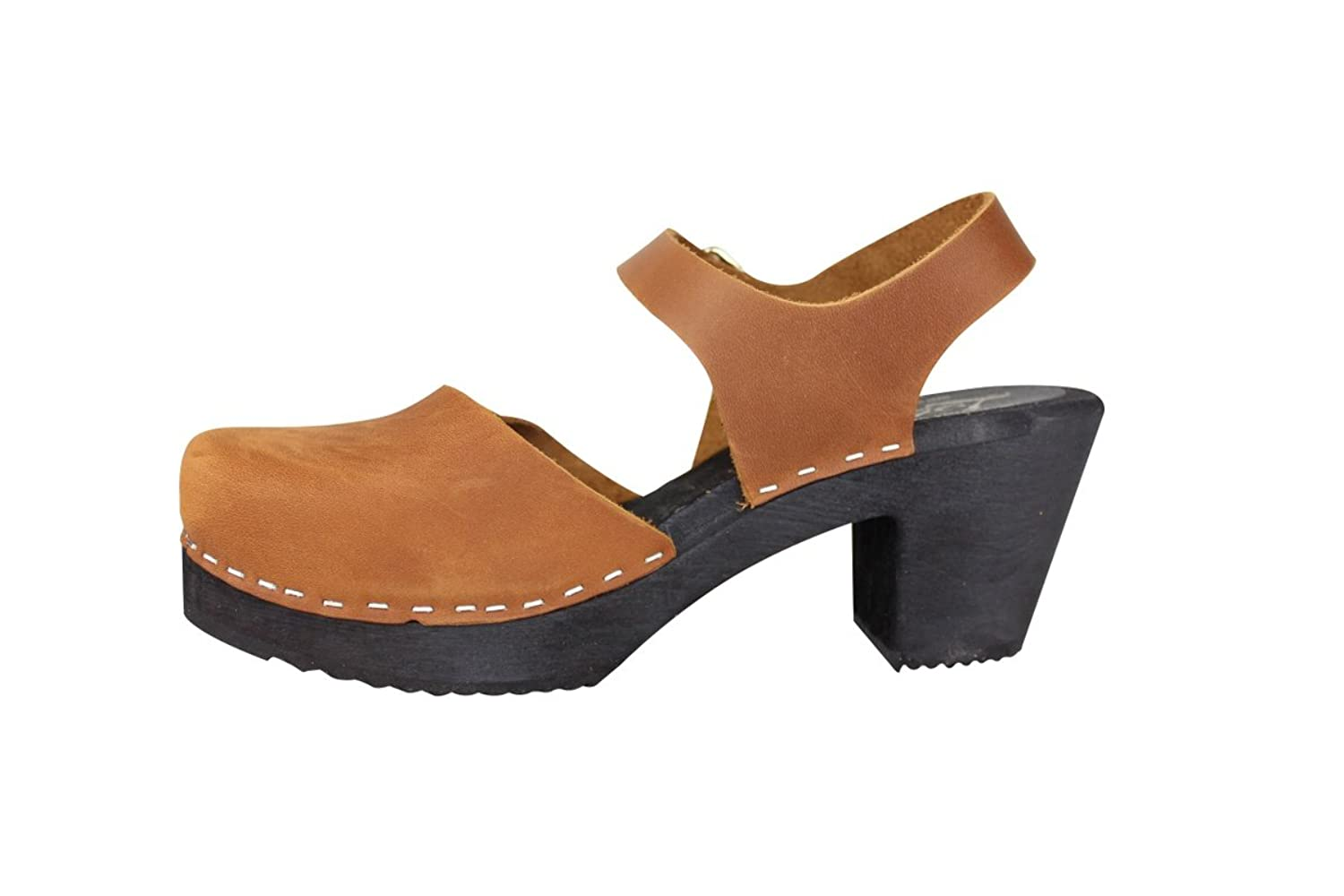 Lotta From Stockholm Highwood Clogs in Brown Oiled with Black Sole EUR 42:  Amazon.co.uk: Shoes & Bags