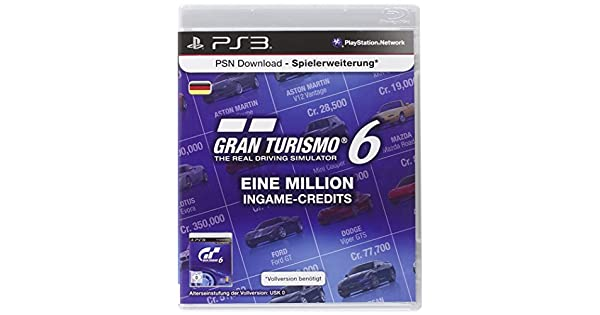 Playstation Network Card (10 Euro) Gran Turismo 6 Livecard ...