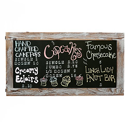MyGift Torched Chalkboard Erasable Message