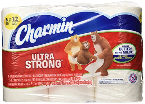 Charmin Ultra Strong Toilet Paper 6 Double Rolls, 6 Count
