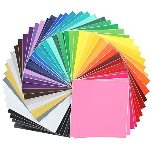 Self Adhesive Vinyl Sheets (35 Pack) - Oracal 651/631 Ultimate Value Assortment Pack Permanent Vinyl for Cricut, Silhouette Cameo, Craft Cutters (12 Inches X 12 Inches)