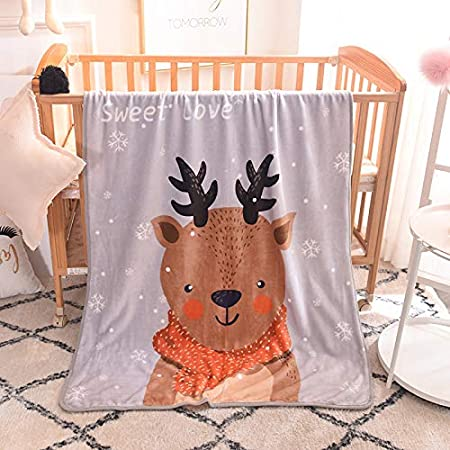 JINGB Home Blanket Baby Lamb Cashmere Velvet Blanket Blanket Stroller Blanket Children Blanket Color : Penguin, Size : Single Layer 100 x 140CM
