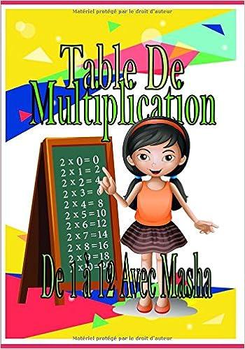 Table De Multiplication De 1 12 Avec Masha Mathmatique Livre