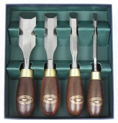 Crown Tools 174RB / Big Horn 21005 4 Pieces Butt Chisel Set