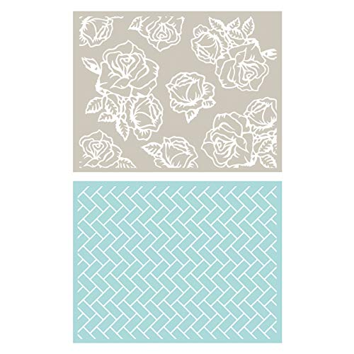 (QUICKUTZ Lifestyle Crafts Lifestyle Crafts A2 Courtyard Embossing Folder Set)