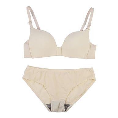 3512287330cf5 Doubleer Women Lingerie Set Wire Free Breathable Push up Bras Kinckers Bra  Set Underwear  Amazon.co.uk  Clothing