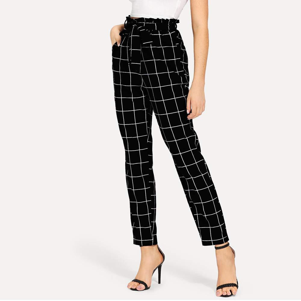 Amazon.com: Comfy Stretch Pantalon Womens Elastic Waist ...