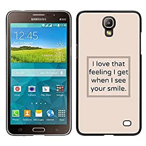 [Neutron-Star] Snap-on Series Teléfono Carcasa Funda Case Caso para Samsung Galaxy Mega 2 [I See Your Smile Poster Text Beige Inspiring]