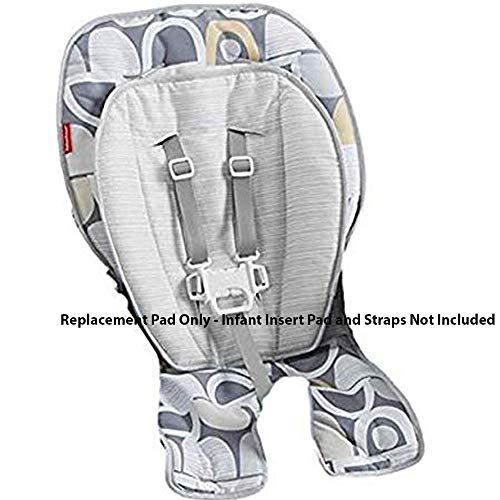 Fisher Price Replacement Seat Pad/Cushion / Cover for SpaceSaver Highchair (FPC43 Multi Gray Pebble) (Space Saver High Chair Cover)