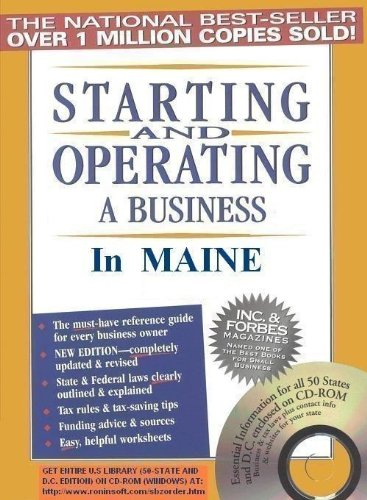 Amazon com: Starting and Operating a Business in Maine