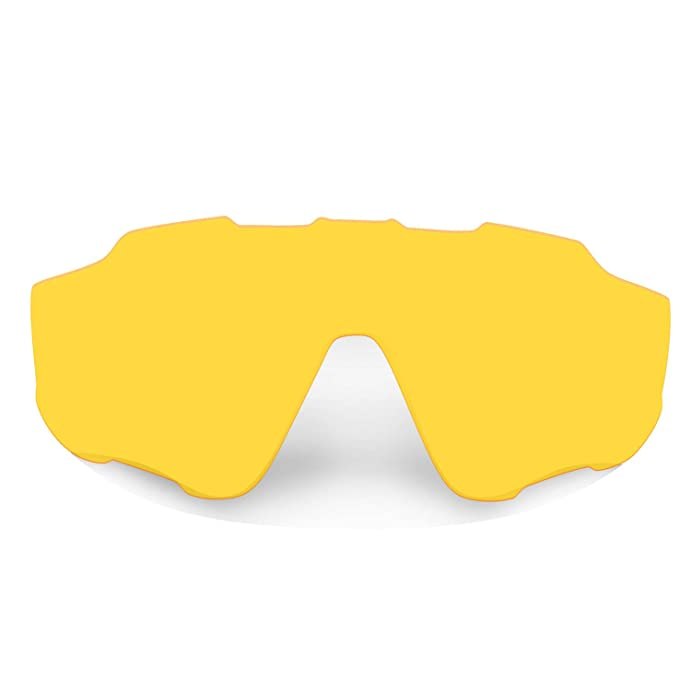 HKUCO Transparent Yellow Polarized Replacement Lenses For Oakley M Frame Sweep Sunglasses 8Suvng85n