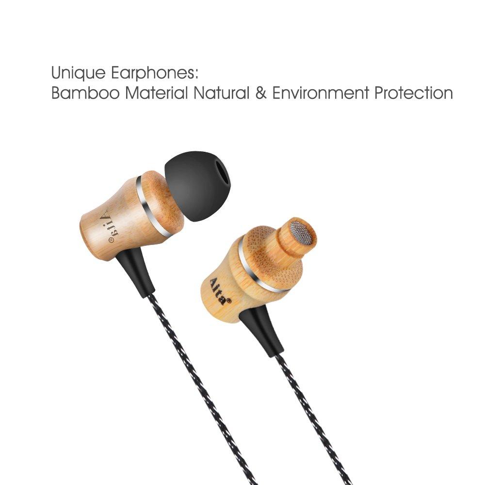 Aita WD55 Auriculares Naturales de Bambú Estéreo con MIC Bass potente por solo 14,99€