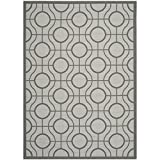 Safavieh Courtyard Collection CY6115-78 Light Grey and Anthracite Indoor/Outdoor Area Rug (6'7″ x 9'6″) Review
