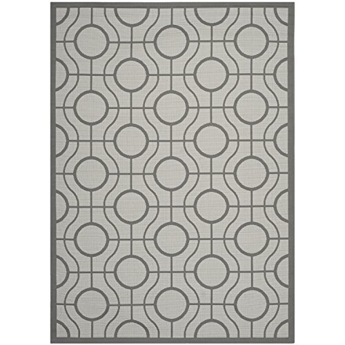 Safavieh Courtyard Collection CY6115-78 Light Grey and Anthracite Indoor/Outdoor Area Rug (6'7