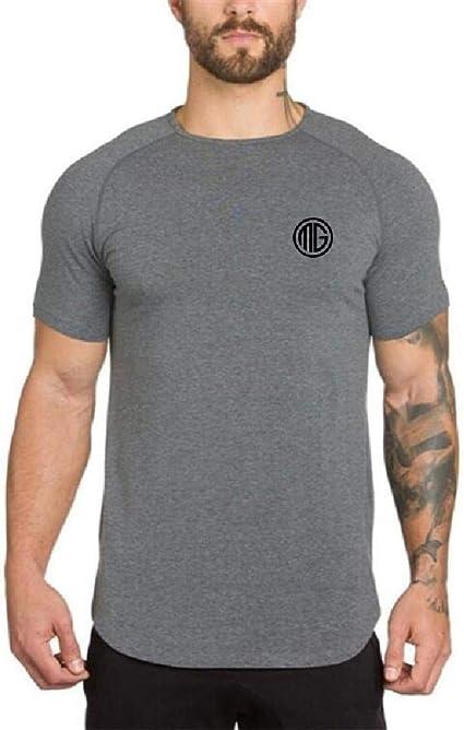 Camiseta Deportiva Deportiva Transpirable Mediana Larga para Hombres de Moda Camiseta Deportiva Delgada de Verano para Hombres de Moda: Amazon.es: Ropa y accesorios