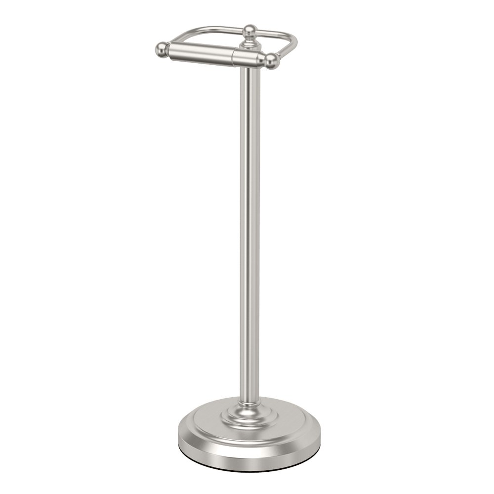 Gatco 1436SN Pedestal Toilet Paper Holder, Satin Nickel