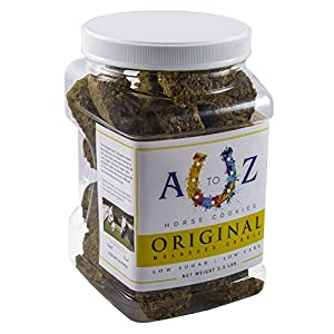 A to Z Horse Cookies Horse Cookie Treat: Original Flavor by, Low Carb Low Sugar Softer Treats, Organic, Great For All Horses And Excellent For Those With Metabolic Conditions