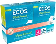 ECOS® Liquidless Laundry Detergent Squares, Magnolia & Lily, 114 Loads (57 Count, Pack o