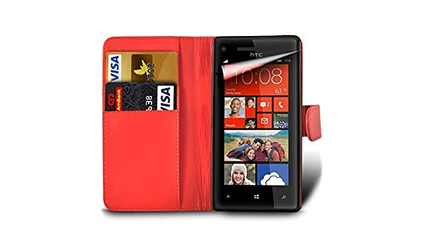 Amazon.com: For Vodafone Smart 4 TURBO PU Leather Wallet Flip Skin Case Cover In Red With Screen Protector And Polishing Cloth: Cell Phones & Accessories