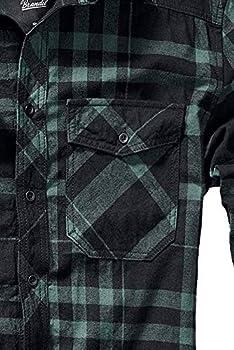 Brandit Camisa a Cuadros Hombre Manga Larga Negro-Verde S: Amazon.es: Ropa y accesorios