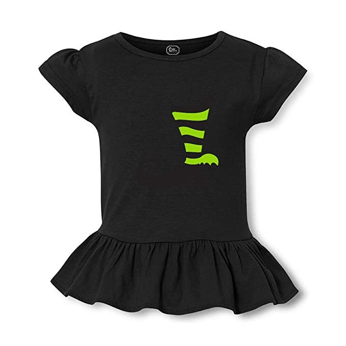 5aa31a4097b79a Black Green Shoe Short Sleeve Toddler Cotton Girly T-Shirt Tee - Black