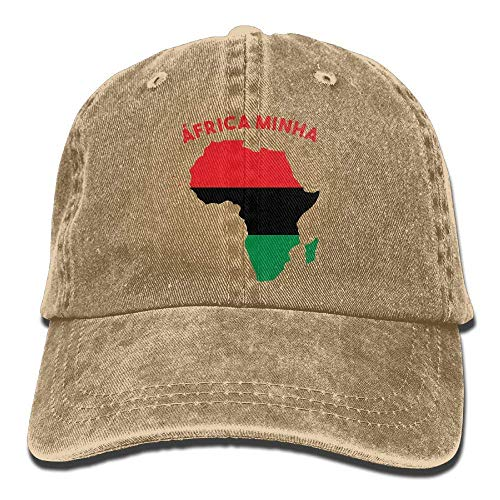 ef655f6cde3390 Africa Minha Pan-African Motif Dad Hat Adjustable Denim Hat Classic Baseball  Cap