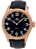 Glycine KMU 48 Kriegs Marine Uhren Rose Gold Plated Steel Mens Watch...