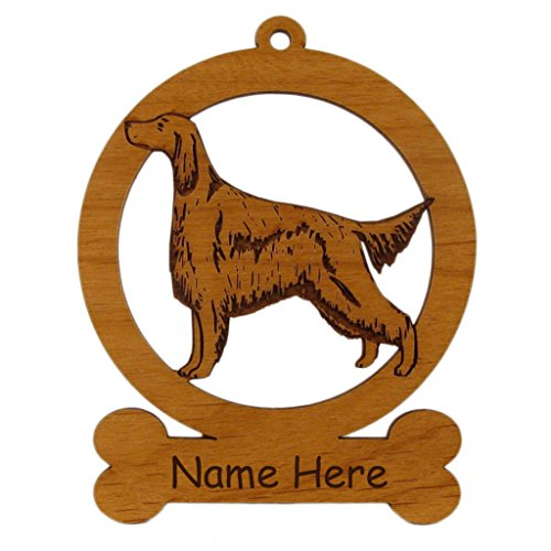 Irish Setter Standing Dog Ornament 083370 Personalized With Your Dog's ()
