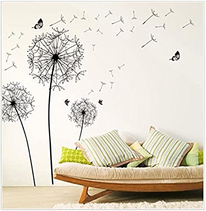 Euone Wall Sticker Large Dandelion Wallpaper Decal Mural Home Decor Stickers