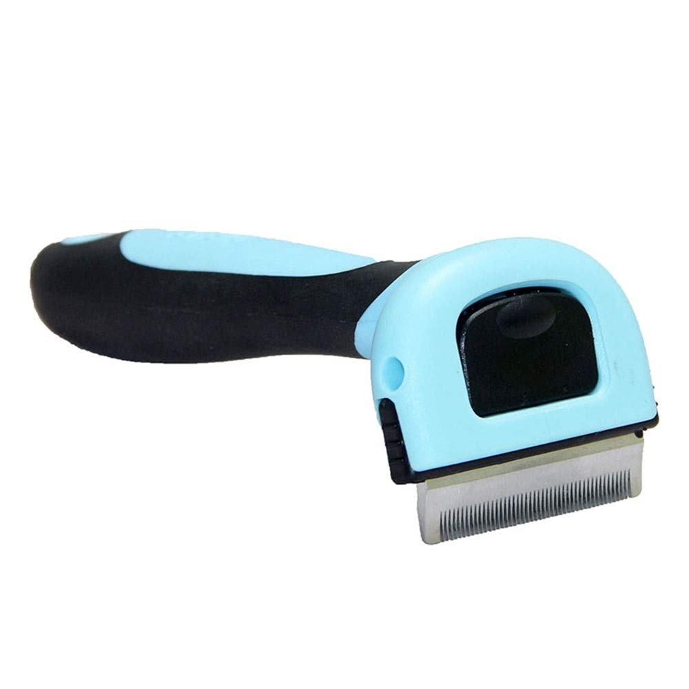 bluee APet Grooming Brush Professional DeShedding Tool with Grooming Massage for Big Small Long Short Hair Dog Cat Brush (color   bluee, Size   C)